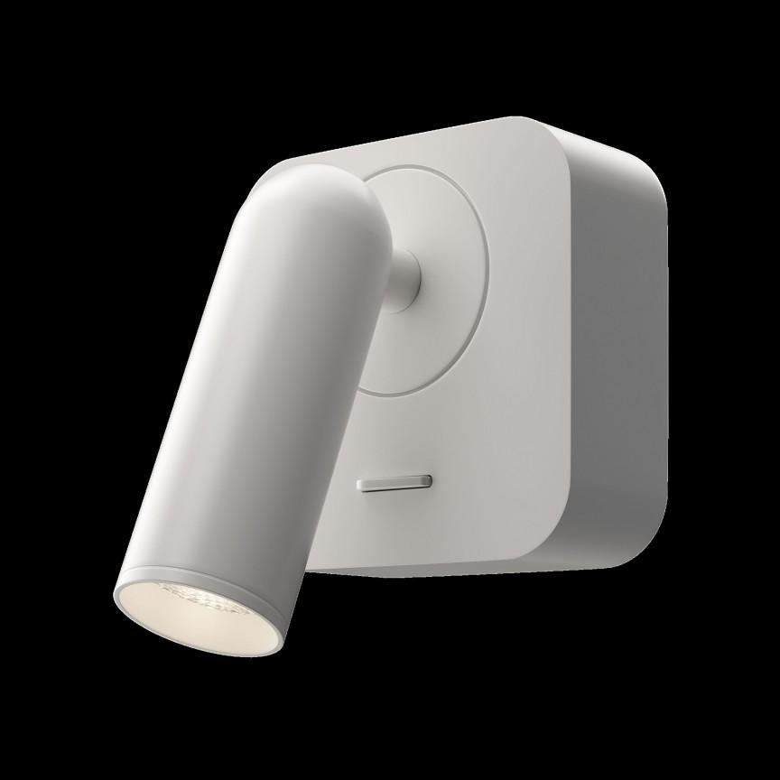 Aplica cu spot directionabil LED design modern MIRAX alb MYC039WL-L3W3K, Aplice aplicate perete sau tavan cu spot, LED⭐ modele moderne corpuri de iluminat tip spot-uri pe bara.✅Design decorativ 2021!❤️Promotii lampi❗ ➽ www.evalight.ro. Alege oferte aplice de iluminat interior, lustre si plafoniere cu 1 spot cu lumina LED si directie reglabila, spot orientabil cu intrerupator, simple si ieftine de calitate la cel mai bun pret. a