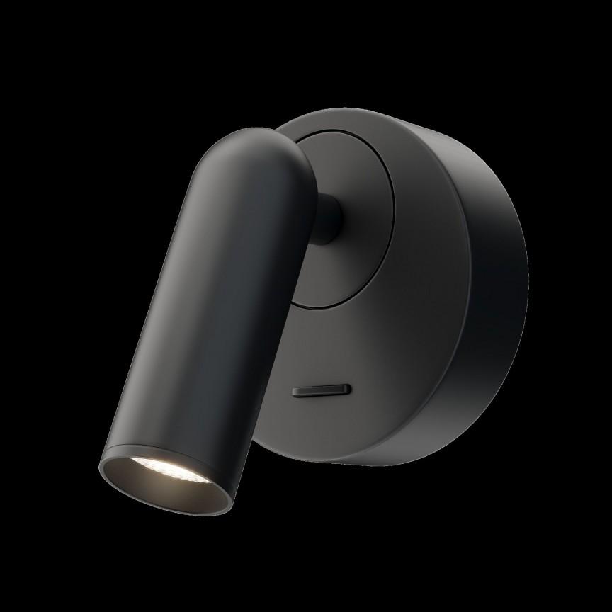 Aplica cu spot directionabil LED design modern MIRAX negru MYC038WL-L3B3K, Aplice aplicate perete sau tavan cu spot, LED⭐ modele moderne corpuri de iluminat tip spot-uri pe bara.✅Design decorativ 2021!❤️Promotii lampi❗ ➽ www.evalight.ro. Alege oferte aplice de iluminat interior, lustre si plafoniere cu 1 spot cu lumina LED si directie reglabila, spot orientabil cu intrerupator, simple si ieftine de calitate la cel mai bun pret. a
