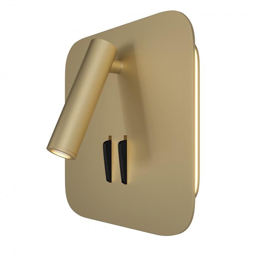 Aplica cu spot LED design modern LOS 176 auriu MYC175-WL-01-6W-MG, Candelabre si Lustre moderne elegante⭐ modele clasice de lux pentru living, bucatarie si dormitor.✅ DeSiGn actual Top 2020!❤️Promotii lampi❗ ➽ www.evalight.ro. Oferte corpuri de iluminat suspendate pt camere de interior (înalte), suspensii (lungi) de tip lustre si candelabre, pendule decorative stil modern, clasic, rustic, baroc, scandinav, retro sau vintage, aplicate pe perete sau de tavan, cu cristale, abajur din material textil, lemn, metal, sticla, bec Edison sau LED, ieftine de calitate deosebita la cel mai bun pret. a