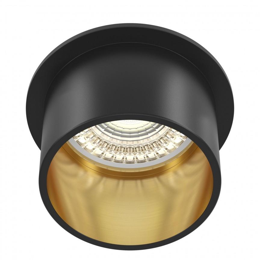 Spot incastrabil design modern Reif negru/auriu MYDL050-01GB, Spoturi aplicate tavan / perete, mobila, LED⭐modele moderne pentru living,dormitor,bucatarie,baie,hol.✅Design decorativ 2021!❤️Promotii lampi❗ ➽ www.evalight.ro. Alege oferte la colectile NOI de corpuri de iluminat interior de tip spot-uri aparente cu LED, (rotunde si patrate), ieftine de calitate la cel mai bun pret. a