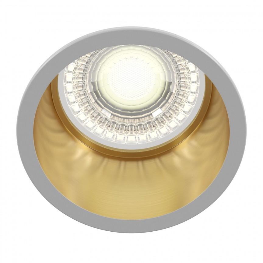 Spot incastrabil design modern Reif alb/auriu MYDL049-01WG, Spoturi aplicate tavan / perete, mobila, LED⭐modele moderne pentru living,dormitor,bucatarie,baie,hol.✅Design decorativ 2021!❤️Promotii lampi❗ ➽ www.evalight.ro. Alege oferte la colectile NOI de corpuri de iluminat interior de tip spot-uri aparente cu LED, (rotunde si patrate), ieftine de calitate la cel mai bun pret. a