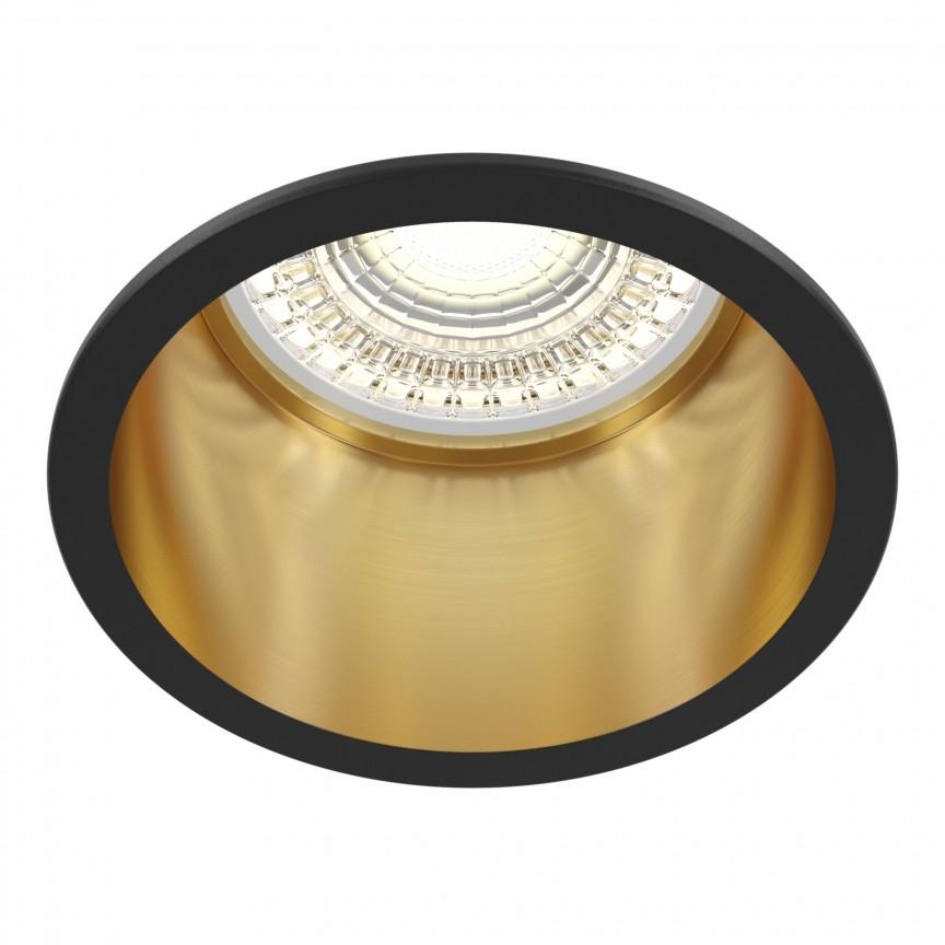 Spot incastrabil design modern Reif negru/auriu MYDL049-01GB, Spoturi aplicate tavan / perete, mobila, LED⭐modele moderne pentru living,dormitor,bucatarie,baie,hol.✅Design decorativ 2021!❤️Promotii lampi❗ ➽ www.evalight.ro. Alege oferte la colectile NOI de corpuri de iluminat interior de tip spot-uri aparente cu LED, (rotunde si patrate), ieftine de calitate la cel mai bun pret. a