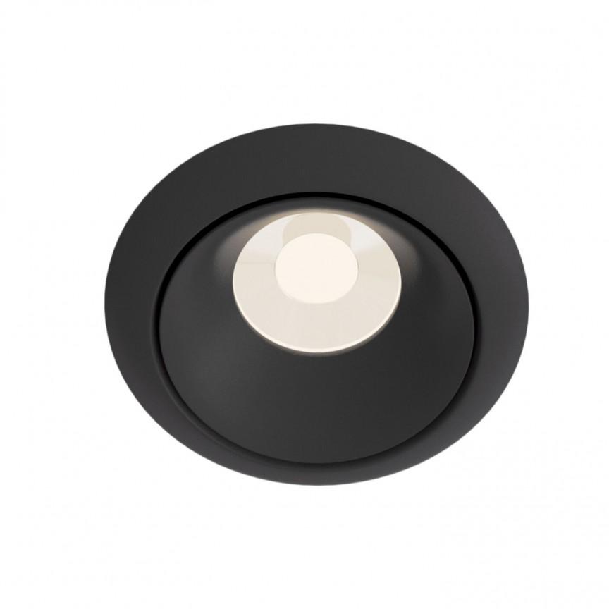 Spot incastrabil design modern Yin negru MYDL030-2-01B, Spoturi aplicate tavan / perete, mobila, LED⭐modele moderne pentru living,dormitor,bucatarie,baie,hol.✅Design decorativ 2021!❤️Promotii lampi❗ ➽ www.evalight.ro. Alege oferte la colectile NOI de corpuri de iluminat interior de tip spot-uri aparente cu LED, (rotunde si patrate), ieftine de calitate la cel mai bun pret. a