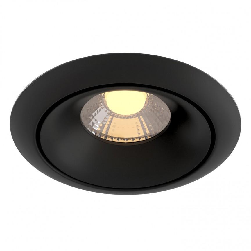Spot incastrabil LED design modern Yin negru MYDL031-2-L8B, Spoturi aplicate tavan / perete, mobila, LED⭐modele moderne pentru living,dormitor,bucatarie,baie,hol.✅Design decorativ 2021!❤️Promotii lampi❗ ➽ www.evalight.ro. Alege oferte la colectile NOI de corpuri de iluminat interior de tip spot-uri aparente cu LED, (rotunde si patrate), ieftine de calitate la cel mai bun pret. a