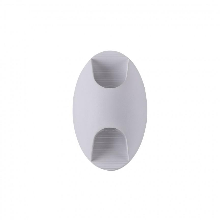 Aplica LED pentru iluminat exterior design modern Times Square IP54 alb MYO594WL-L6W, Corpuri de iluminat exterior⭐ modele rustice, clasice, moderne pentru gradina, terasa, curte si alei.✅Design decorativ 2021!❤️Promotii lampi❗ Magazin online➽www.evalight.ro. a