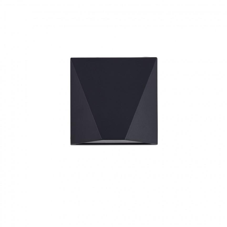 Aplica LED pentru iluminat exterior cu protectie IP54 Beekman negru MYO577WL-L5B, Corpuri de iluminat exterior⭐ modele rustice, clasice, moderne pentru gradina, terasa, curte si alei.✅Design decorativ 2021!❤️Promotii lampi❗ Magazin online➽www.evalight.ro. a