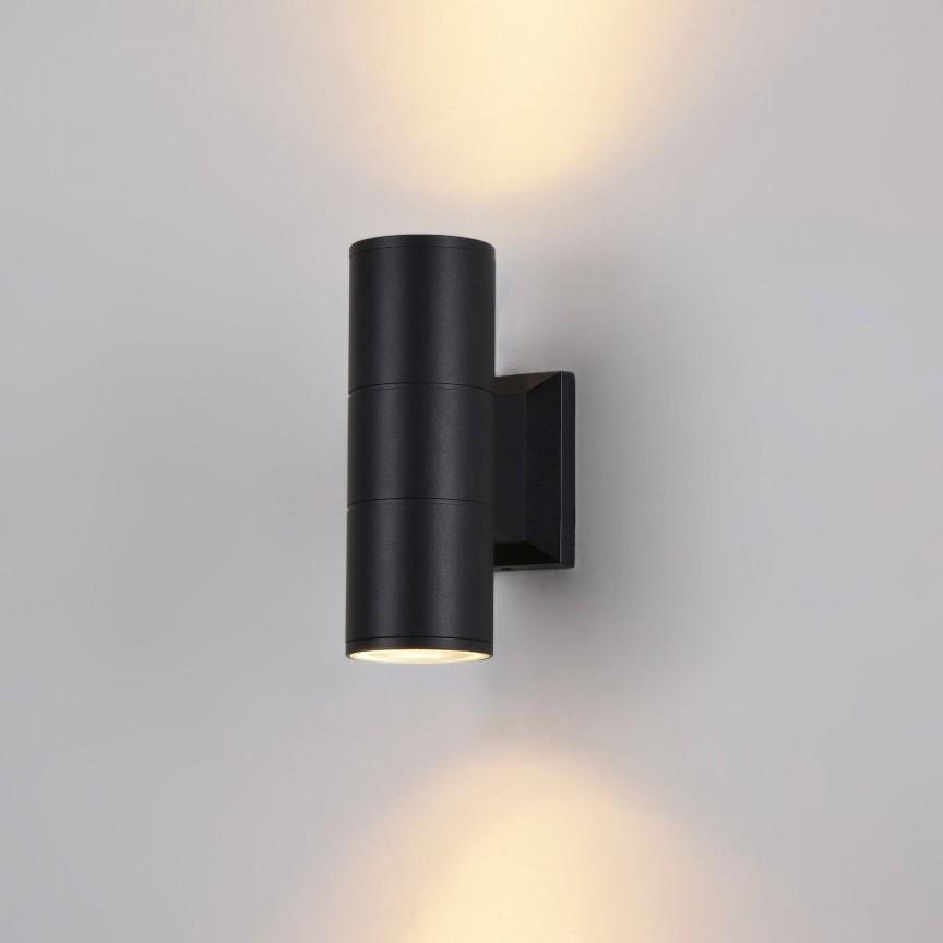Aplica pentru iluminat exterior cu protectie IP54 Bowery negru MYO574WL-02B, Corpuri de iluminat exterior⭐ modele rustice, clasice, moderne pentru gradina, terasa, curte si alei.✅Design decorativ 2021!❤️Promotii lampi❗ Magazin online➽www.evalight.ro. a
