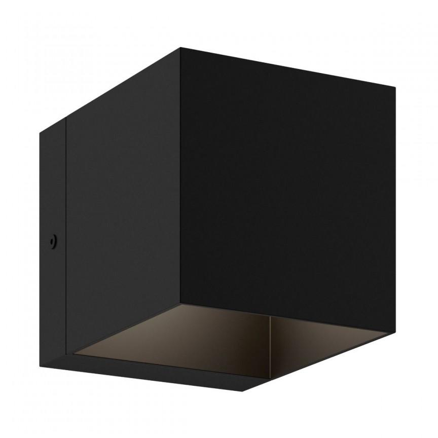 Aplica de perete ambientala design modern Transfer I neagra, Aplice de perete minimaliste, LED⭐ modele moderne potrivite pentru dormitor, living, baie, hol, bucatarie.✅Design NOU 2021!❤️Promotii lampi❗ ➽ www.evalight.ro. Alege oferte la corpuri de iluminat interior tip lustra in stil minimalist, (plafoniera) spoturi aplicate pe perete sau tavan (plafon) pt camere casa, cu lumina ambientala, din (sticla,lemn,inox, crom), cu intrerupator, ieftine si simple, calitate deosebita la cel mai bun pret. a