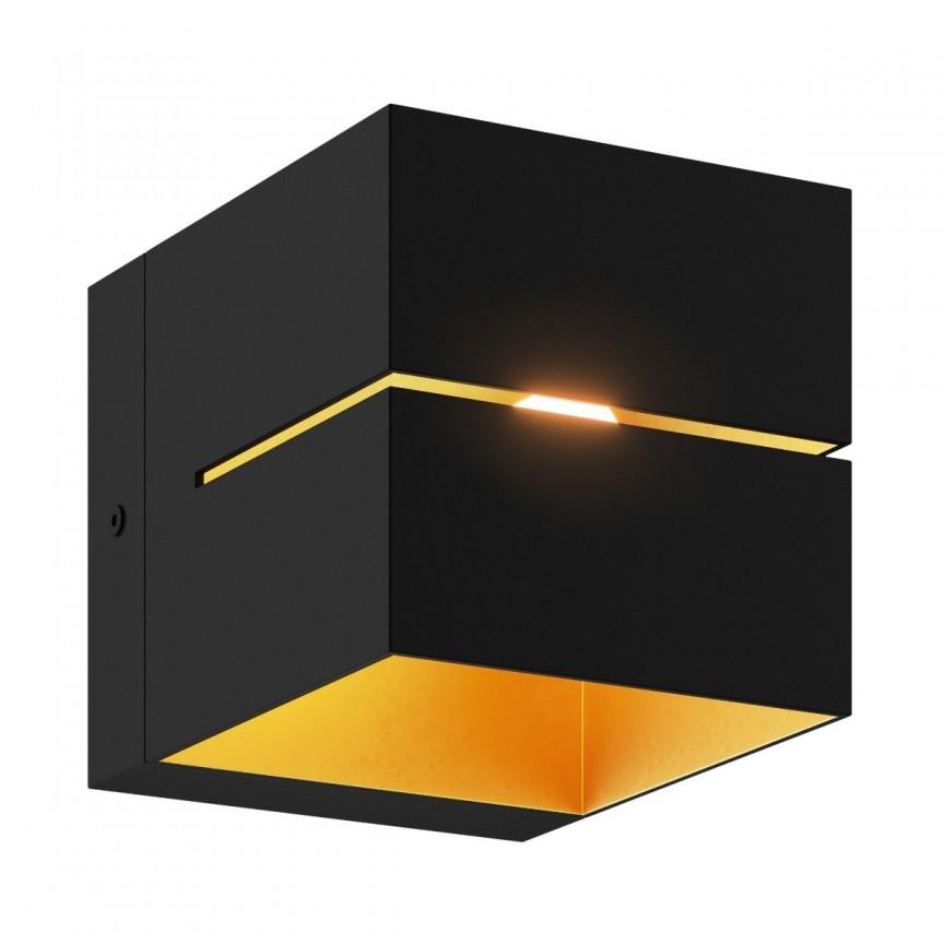 Aplica de perete ambientala design modern Transfer II negru/auriu, Aplice de perete minimaliste, LED⭐ modele moderne potrivite pentru dormitor, living, baie, hol, bucatarie.✅Design NOU 2021!❤️Promotii lampi❗ ➽ www.evalight.ro. Alege oferte la corpuri de iluminat interior tip lustra in stil minimalist, (plafoniera) spoturi aplicate pe perete sau tavan (plafon) pt camere casa, cu lumina ambientala, din (sticla,lemn,inox, crom), cu intrerupator, ieftine si simple, calitate deosebita la cel mai bun pret. a