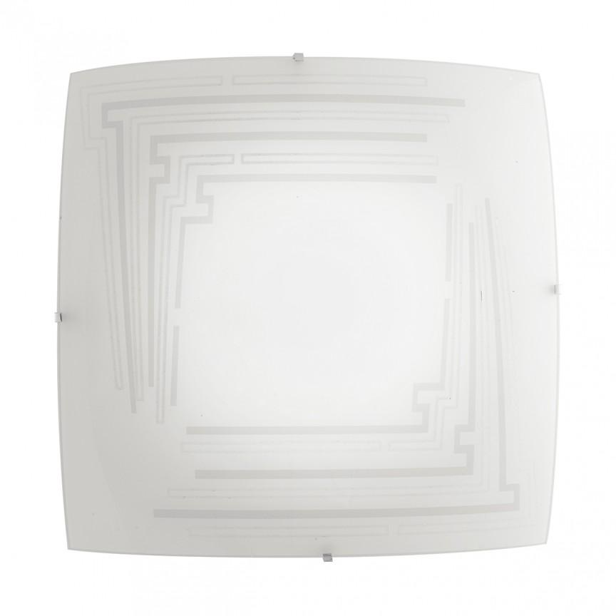 Plafoniera design modern CONCEPT, 40x40cm alb I-CONCEPT/PL40 FE, Candelabre si Lustre moderne elegante⭐ modele clasice de lux pentru living, bucatarie si dormitor.✅ DeSiGn actual Top 2020!❤️Promotii lampi❗ ➽ www.evalight.ro. Oferte corpuri de iluminat suspendate pt camere de interior (înalte), suspensii (lungi) de tip lustre si candelabre, pendule decorative stil modern, clasic, rustic, baroc, scandinav, retro sau vintage, aplicate pe perete sau de tavan, cu cristale, abajur din material textil, lemn, metal, sticla, bec Edison sau LED, ieftine de calitate deosebita la cel mai bun pret. a