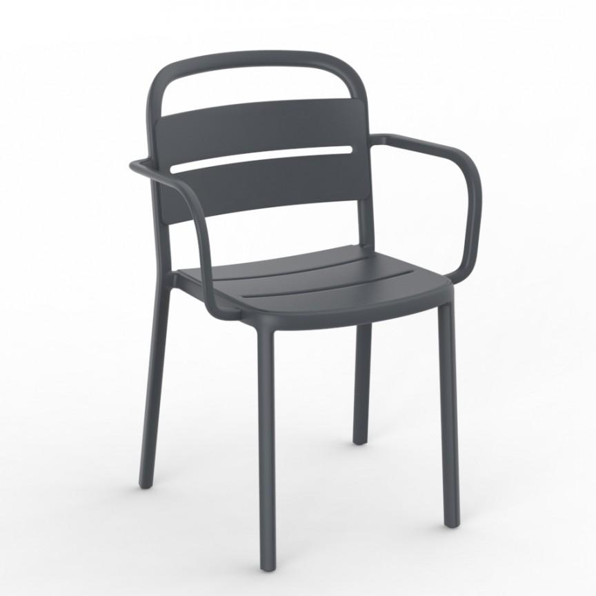 Set de 2 scaune din polipropilena pentru exterior / interior COMO Armchair, Cele mai noi produse 2021 a