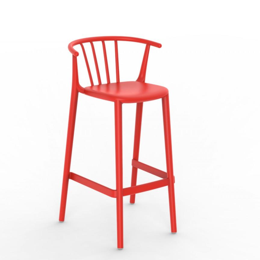 Set de 2 scaune bar, interior / exterior din polipropilena WOODY High stool, Cele mai noi produse 2021 a
