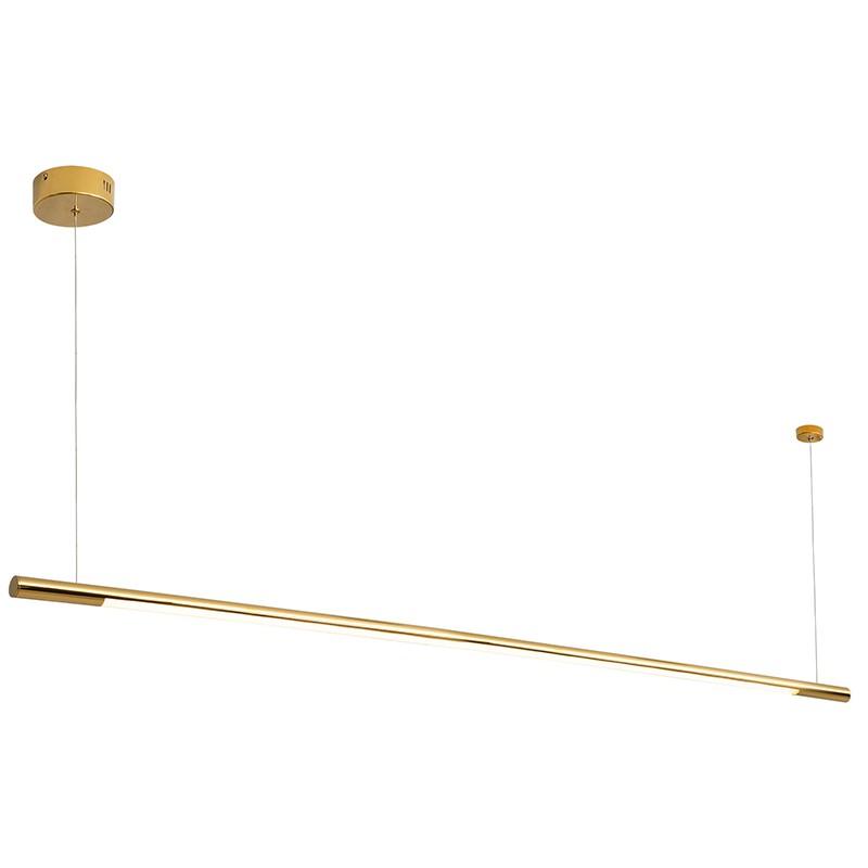 Lustra LED dimabila liniara, suspendata Organic 150cm, auriu, Cele mai noi produse 2021 a