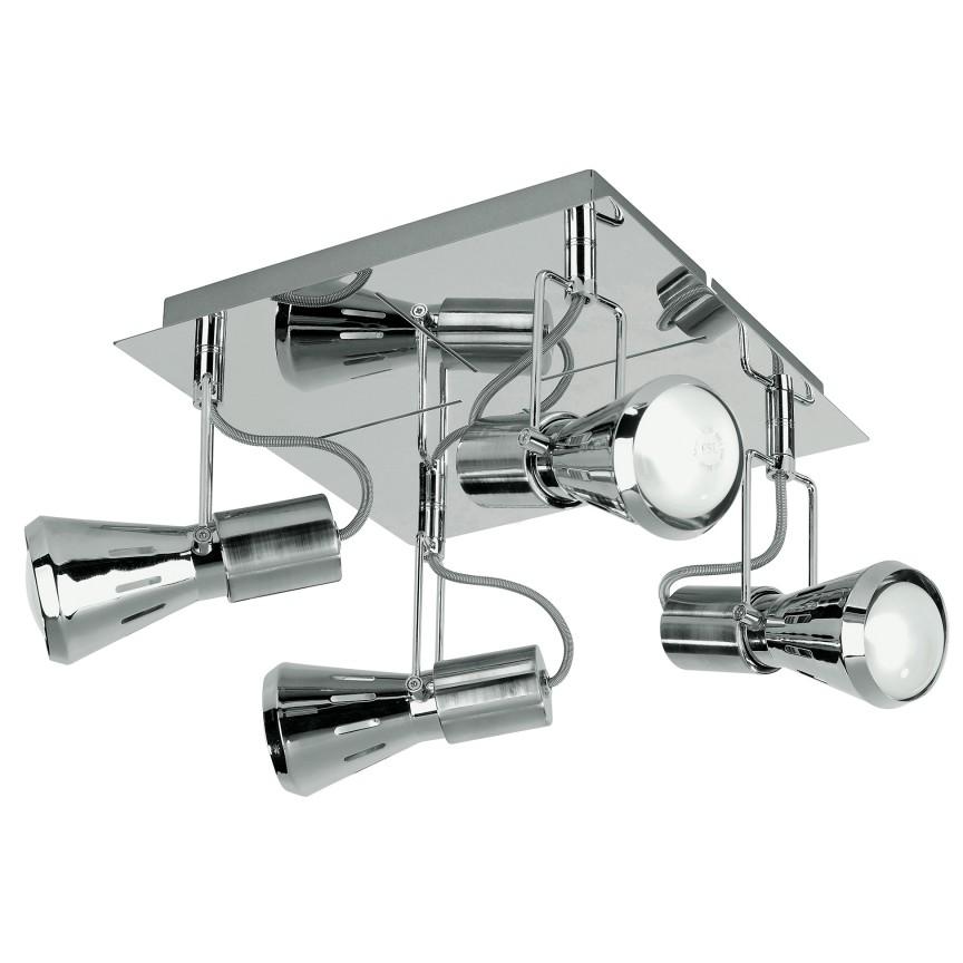 Plafoniera cu 4 spoturi directionabile design industrial CADILLAC crom SPOT-CADILLAC-PL4 FE, Cele mai noi produse 2021 a