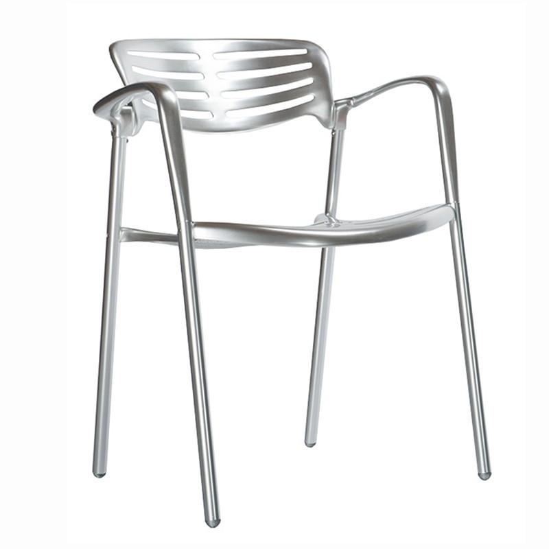 Set de 2 scaune pentru uz interior/ exterior, din aluminiu turnat, Toledo, Cele mai noi produse 2021 a