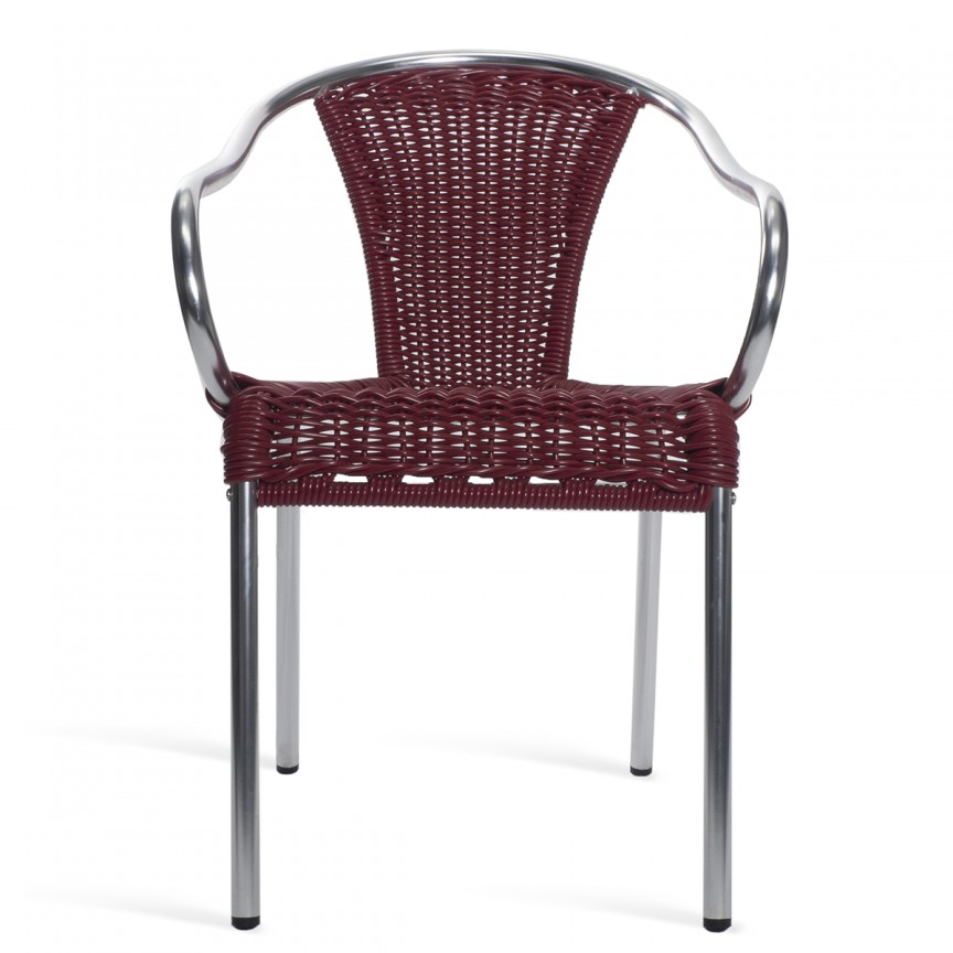 Set 4 scaune de exterior / interior din aluminiu si rattan sintetic, Barcino, Cele mai noi produse 2021 a