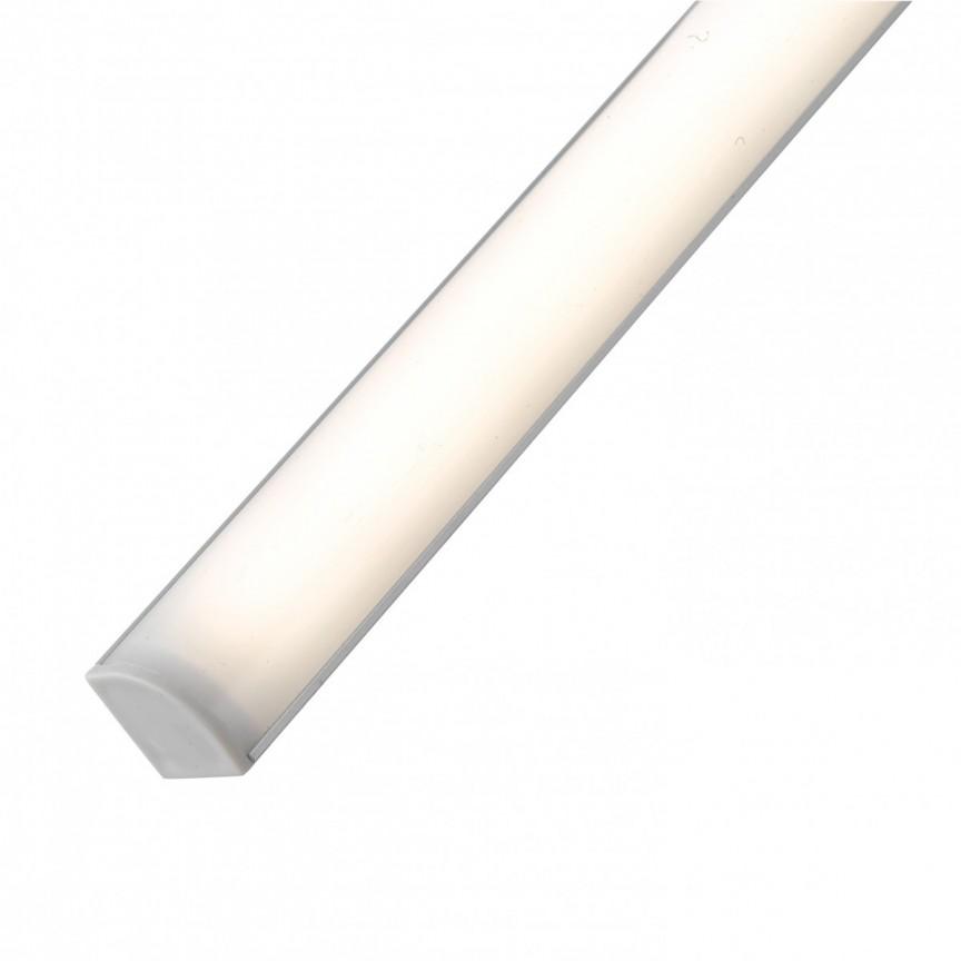 Aplica LED liniara de colt pentru mobila de bucatarie UNIX, L-240cm LEDBAR-UNIX-240 ANG FE, Cele mai noi produse 2021 a