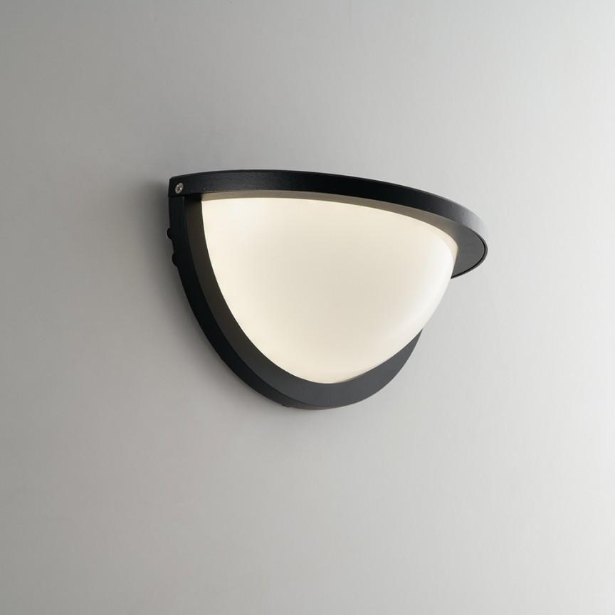 Aplica LED pentru iluminat exterior design modern IP54 DETROIT negru LED-W-DETROIT-AP FE, Cele mai noi produse 2021 a