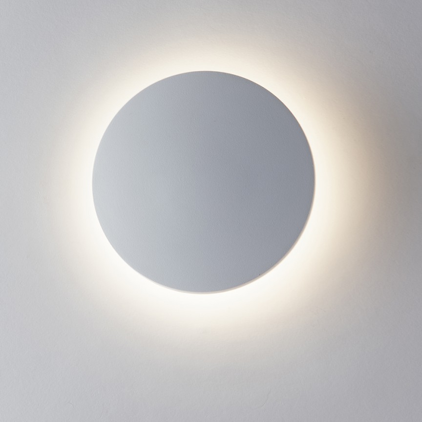 Aplica LED lumina ambientala exterior design modern IP54 AMON alb, 3000K, 18cm LED-W-AMON-MC BCO FE, Cele mai noi produse 2021 a