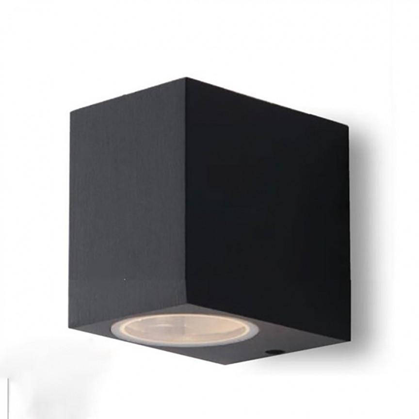 Aplica iluminat ambiental design modern IP54 QUBO antracit I-QUBO-AP1 ANT FE, Candelabre si Lustre moderne elegante⭐ modele clasice de lux pentru living, bucatarie si dormitor.✅ DeSiGn actual Top 2020!❤️Promotii lampi❗ ➽ www.evalight.ro. Oferte corpuri de iluminat suspendate pt camere de interior (înalte), suspensii (lungi) de tip lustre si candelabre, pendule decorative stil modern, clasic, rustic, baroc, scandinav, retro sau vintage, aplicate pe perete sau de tavan, cu cristale, abajur din material textil, lemn, metal, sticla, bec Edison sau LED, ieftine de calitate deosebita la cel mai bun pret. a