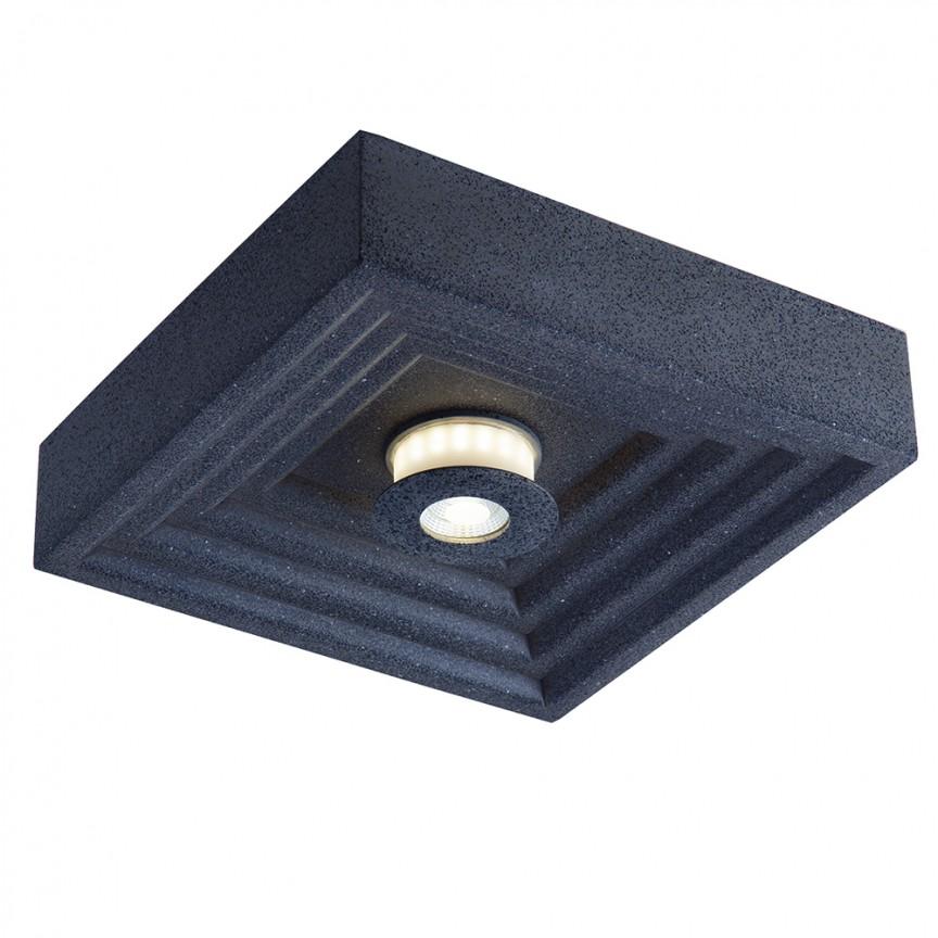 Plafoniera pentru iluminat exterior design modern IP44 AKRON, 23x23cm LED-VERTIGO-Q23 FE, Plafoniere exterior⭐ lampi de iluminat exterior rustice, clasice, moderne pentru terasa casa.✅Design cu LED decorativ 2021!❤️Promotii online❗ Magazin➽www.evalight.ro. Alege oferte la corpuri de iluminat exterior rezistente la apa, tip aplice si spoturi aplicate pt tavan sau perete, solare cu senzori de miscare, metalice, abajur din sticla cu decor ornamental, ieftine si de lux, calitate deosebita la cel mai bun pret. a