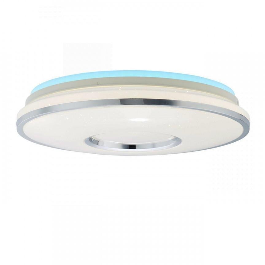 Plafoniera LED RGB cu telecomanda Visitation, Lustre cu LED si telecomanda⭐ modele moderne pentru iluminat cu LED dormitor, living si sufragerie.✅Design decorativ 2021!❤️Promotii lampi❗ ➽www.evalight.ro. Alege oferte la corpuri de iluminat cu telecomanda dimabile 3 functii cu lumina LED RGB si intensitate reglabila, ieftine si de lux, calitate deosebita la cel mai bun pret. a