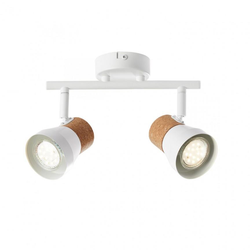 Plafoniera cu 2 spoturi orientabile Moka, Aplice aplicate perete sau tavan cu spoturi, LED⭐ modele moderne corpuri de iluminat tip spoturi pe bara.✅Design decorativ 2021!❤️Promotii lampi❗ ➽ www.evalight.ro. Alege oferte aplice de iluminat interior, lustre si plafoniere cu 2 spoturi cu lumina LED si directie reglabila, spot orientabil cu intrerupator, simple si ieftine de calitate la cel mai bun pret. a