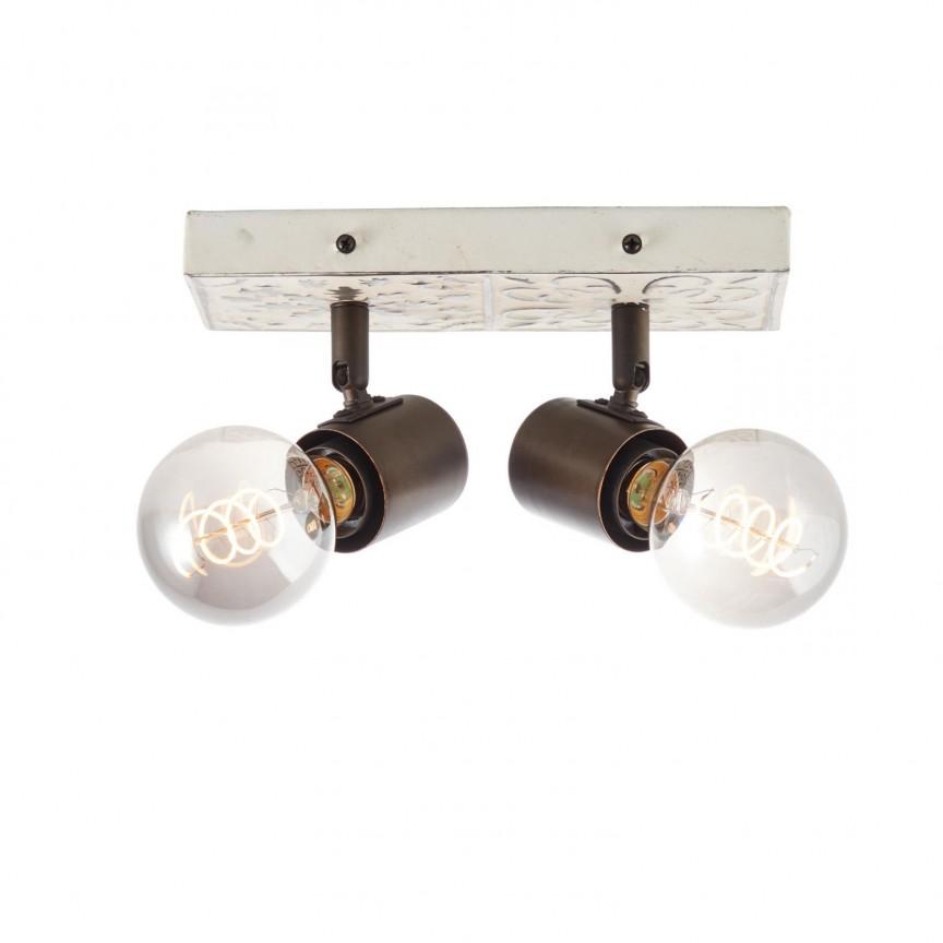 Plafoniera design deco Vagos 2, Aplice aplicate perete sau tavan cu spoturi, LED⭐ modele moderne corpuri de iluminat tip spoturi pe bara.✅Design decorativ 2021!❤️Promotii lampi❗ ➽ www.evalight.ro. Alege oferte aplice de iluminat interior, lustre si plafoniere cu 2 spoturi cu lumina LED si directie reglabila, spot orientabil cu intrerupator, simple si ieftine de calitate la cel mai bun pret. a