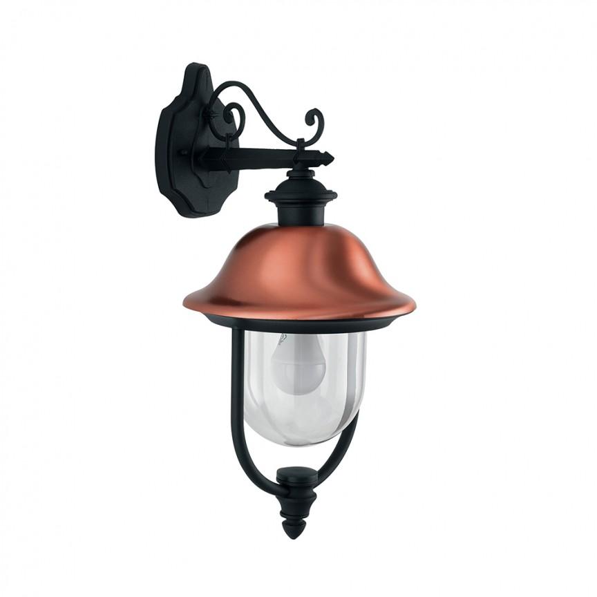 Aplica downlight pentru iluminat exterior design clasic IP44 VENEZIA LANT-VENEZIA-AP1B FE, Aplice de exterior clasice, rustice, traditionale⭐ lampi de perete pentru iluminat exterior terasa casa.✅Design decorativ 2021!❤️Promotii online❗ Magazin➽www.evalight.ro. Alege oferte la corpuri de iluminat exterior rezistente la apa tip felinar din metal antichizat, abajur din sticla cu decor ornamental, bec LED si lumina ambientala, ieftine si de lux, calitate deosebita la cel mai bun pret. a