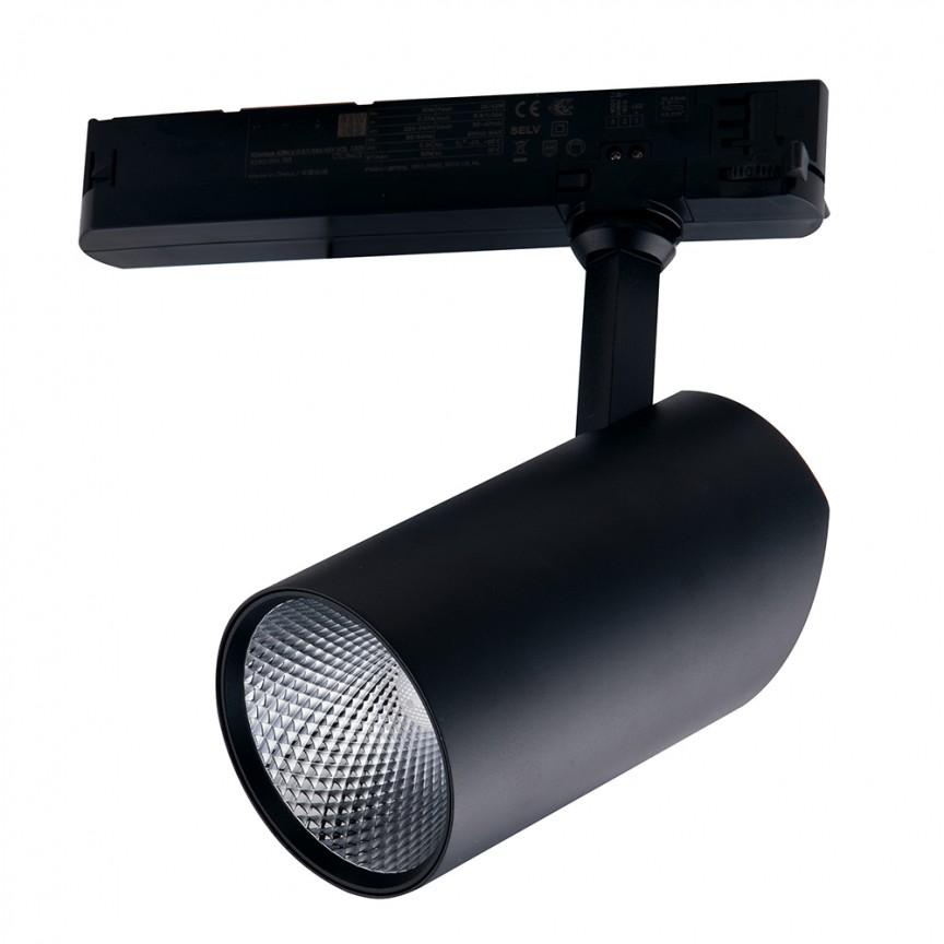 Spot LED directionabil pentru sina Track, 20W 4000K Action negru LED-ACTION-B-20M FE, Cele mai noi produse 2021 a