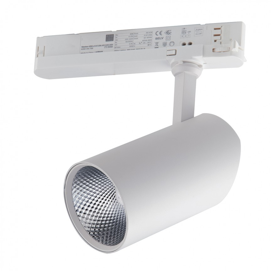 Spot LED directionabil pentru sina Track, 42W 3000K Action alb LED-ACTION-W-42C FE, Cele mai noi produse 2021 a