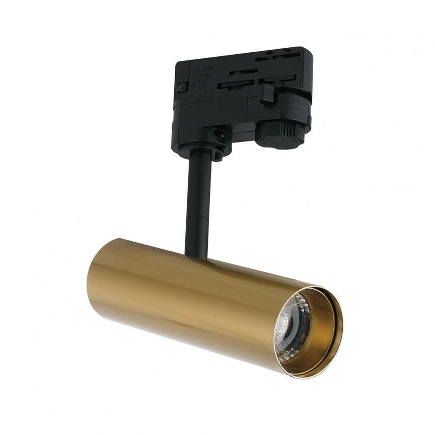Spot LED directionabil pentru sina Track, 7W 3000K Rocket auriu LED-ROCKET-7C ORO FE, Cele mai noi produse 2021 a