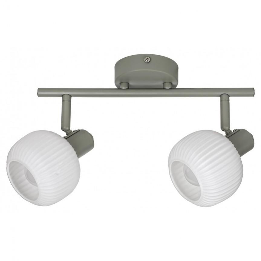 Aplica cu 2 spoturi design modern Soraya 3967 RX, Aplice aplicate perete sau tavan cu spoturi, LED⭐ modele moderne corpuri de iluminat tip spoturi pe bara.✅Design decorativ 2021!❤️Promotii lampi❗ ➽ www.evalight.ro. Alege oferte aplice de iluminat interior, lustre si plafoniere cu 2 spoturi cu lumina LED si directie reglabila, spot orientabil cu intrerupator, simple si ieftine de calitate la cel mai bun pret. a