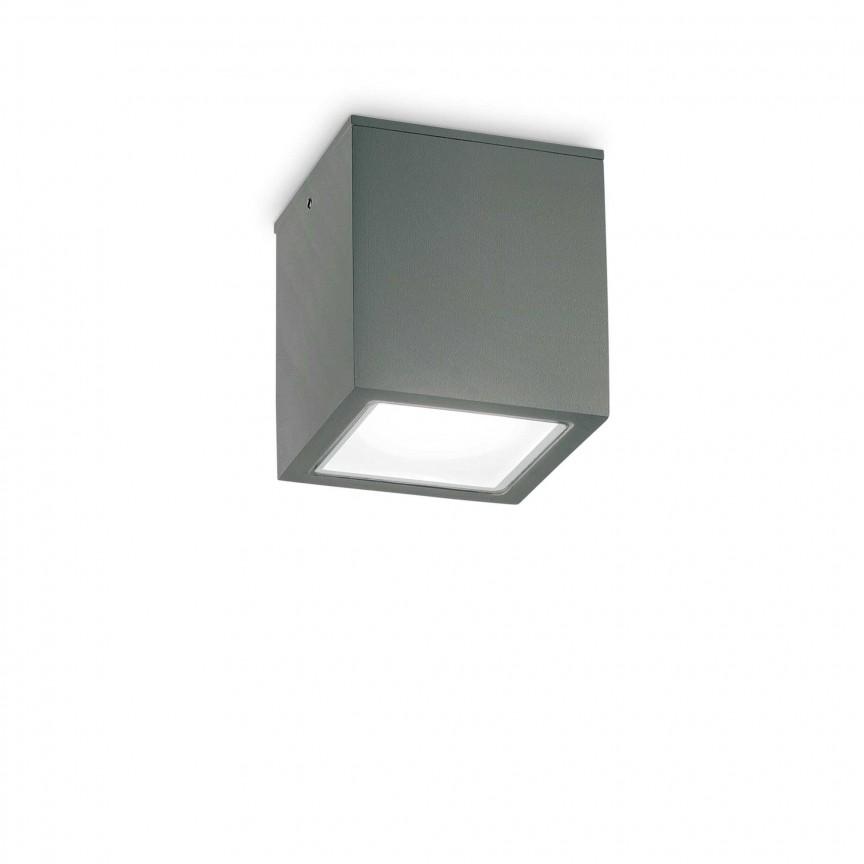 Spot aplicat modern TECHO PL1 BIG ANTRACITE, Plafoniere exterior⭐ lampi de iluminat exterior rustice, clasice, moderne pentru terasa casa.✅Design cu LED decorativ 2021!❤️Promotii online❗ Magazin➽www.evalight.ro. Alege oferte la corpuri de iluminat exterior rezistente la apa, tip aplice si spoturi aplicate pt tavan sau perete, solare cu senzori de miscare, metalice, abajur din sticla cu decor ornamental, ieftine si de lux, calitate deosebita la cel mai bun pret. a