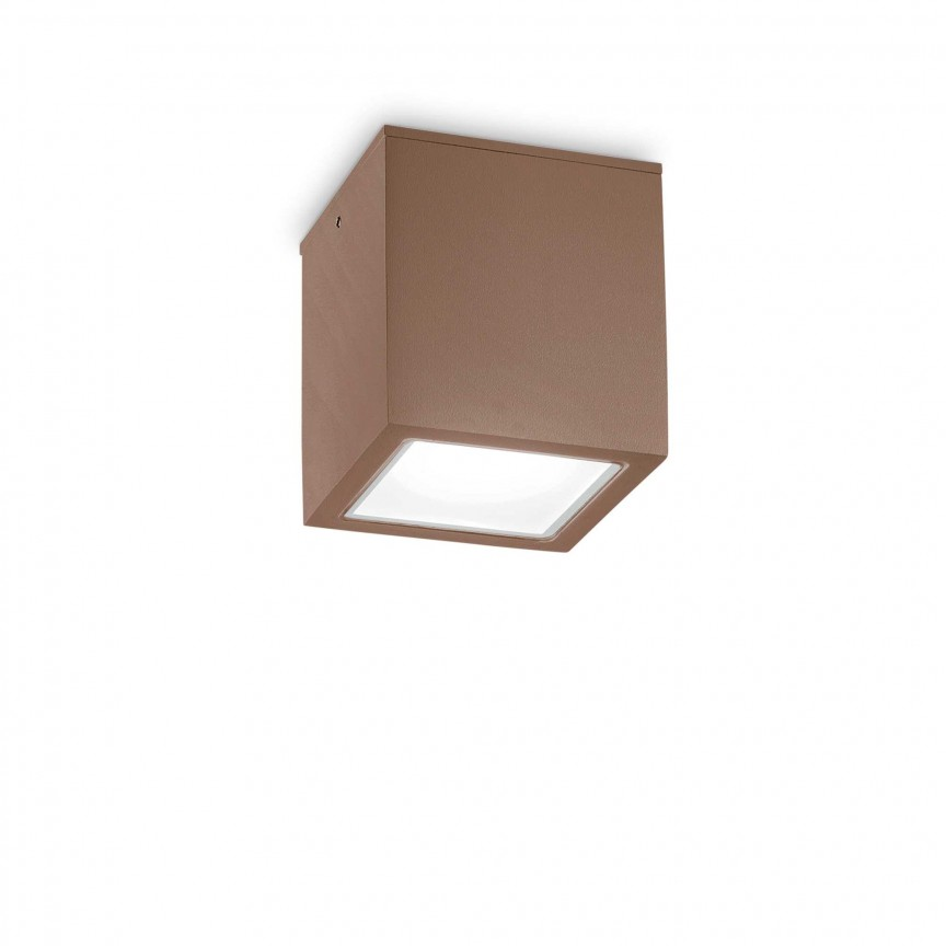 Spot aplicat modern TECHO PL1 BIG COFFEE, Plafoniere exterior⭐ lampi de iluminat exterior rustice, clasice, moderne pentru terasa casa.✅Design cu LED decorativ 2021!❤️Promotii online❗ Magazin➽www.evalight.ro. Alege oferte la corpuri de iluminat exterior rezistente la apa, tip aplice si spoturi aplicate pt tavan sau perete, solare cu senzori de miscare, metalice, abajur din sticla cu decor ornamental, ieftine si de lux, calitate deosebita la cel mai bun pret. a