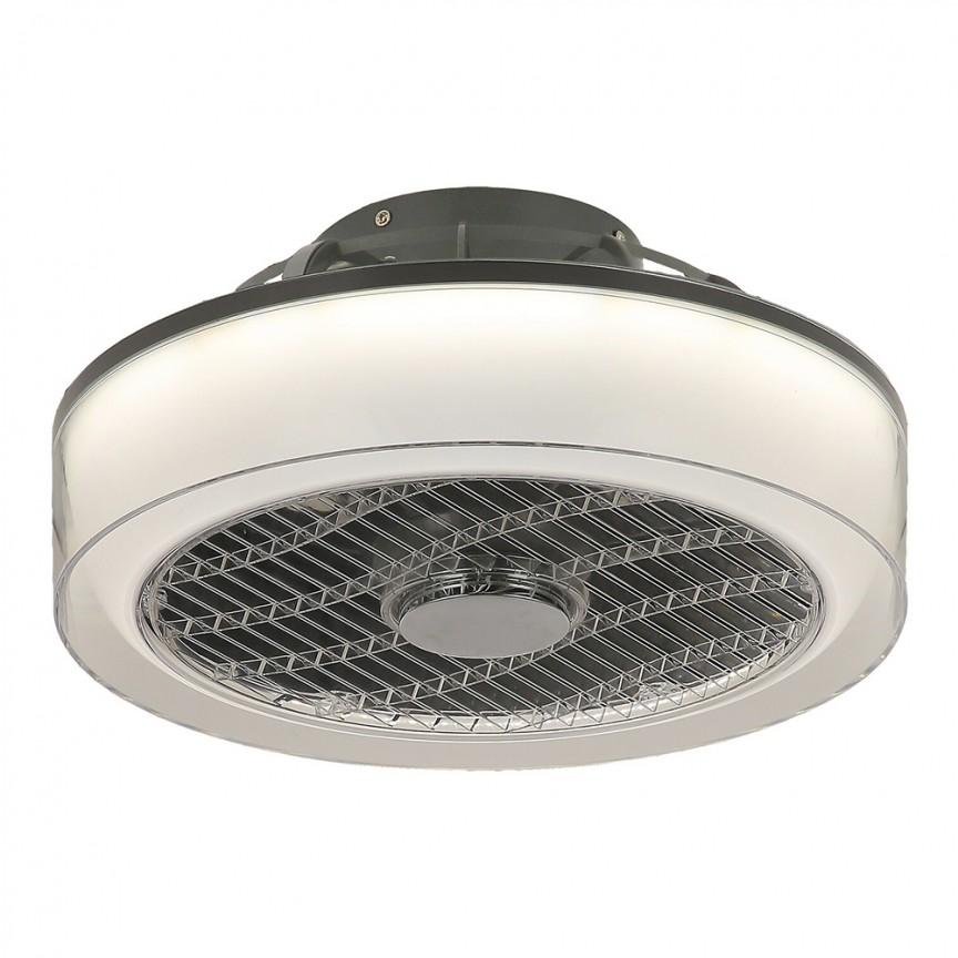 Lustra LED cu ventilator si telecomanda design modern Dalfon, 39,5cm 6857 RX, Lustre cu ventilator de tavan⭐ modele NOI 2021✅ ventilatoare moderne cu sisteme de iluminat LED (lumina) si telecomanda.❤️Promotii lampi❗ ➽www.evalight.ro. Oferte la corpuri de iluminat si candelabre cu ventilator profesionale, aplicate de plafon sau perete pentru orice camera din casa: living, baie, bucatarie, dormitor, birou, ieftine sau de lux, calitate premium la cel mai bun pret! a