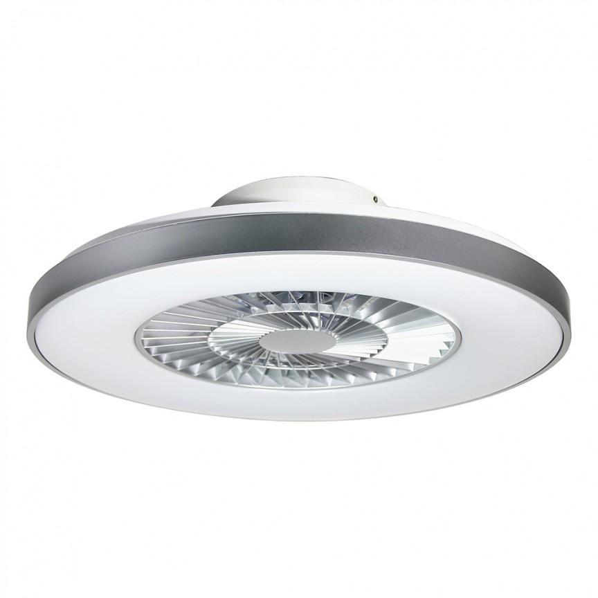 Lustra LED cu ventilator si telecomanda design modern Dalfon 59,5cm 6858 RX, Lustre cu ventilator de tavan⭐ modele NOI 2021✅ ventilatoare moderne cu sisteme de iluminat LED (lumina) si telecomanda.❤️Promotii lampi❗ ➽www.evalight.ro. Oferte la corpuri de iluminat si candelabre cu ventilator profesionale, aplicate de plafon sau perete pentru orice camera din casa: living, baie, bucatarie, dormitor, birou, ieftine sau de lux, calitate premium la cel mai bun pret! a