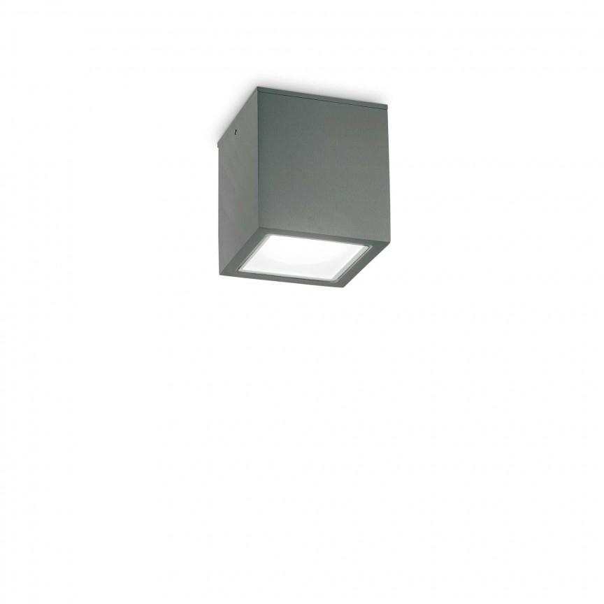 Spot aplicat modern TECHO PL1 SMALL ANTRACITE, Plafoniere exterior⭐ lampi de iluminat exterior rustice, clasice, moderne pentru terasa casa.✅Design cu LED decorativ 2021!❤️Promotii online❗ Magazin➽www.evalight.ro. Alege oferte la corpuri de iluminat exterior rezistente la apa, tip aplice si spoturi aplicate pt tavan sau perete, solare cu senzori de miscare, metalice, abajur din sticla cu decor ornamental, ieftine si de lux, calitate deosebita la cel mai bun pret. a