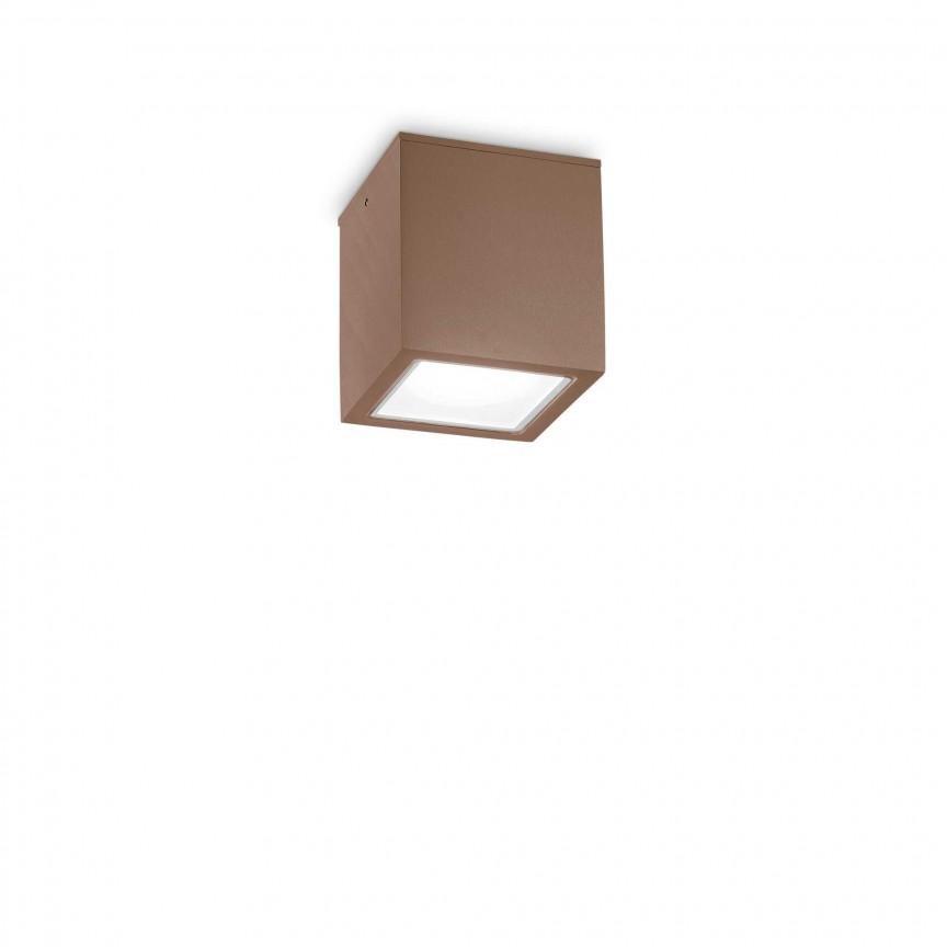 Spot aplicat modern TECHO PL1 SMALL COFFEE, Plafoniere exterior⭐ lampi de iluminat exterior rustice, clasice, moderne pentru terasa casa.✅Design cu LED decorativ 2021!❤️Promotii online❗ Magazin➽www.evalight.ro. Alege oferte la corpuri de iluminat exterior rezistente la apa, tip aplice si spoturi aplicate pt tavan sau perete, solare cu senzori de miscare, metalice, abajur din sticla cu decor ornamental, ieftine si de lux, calitate deosebita la cel mai bun pret. a