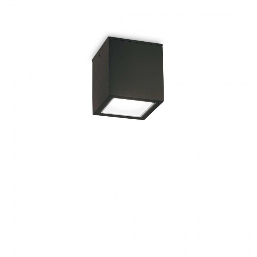 Spot aplicat modern TECHO PL1 SMALL NERO, Plafoniere exterior⭐ lampi de iluminat exterior rustice, clasice, moderne pentru terasa casa.✅Design cu LED decorativ 2021!❤️Promotii online❗ Magazin➽www.evalight.ro. Alege oferte la corpuri de iluminat exterior rezistente la apa, tip aplice si spoturi aplicate pt tavan sau perete, solare cu senzori de miscare, metalice, abajur din sticla cu decor ornamental, ieftine si de lux, calitate deosebita la cel mai bun pret. a