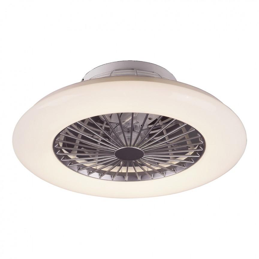 Lustra LED cu ventilator si telecomanda design modern Dalfon 50cm 6859 RX, Lustre cu ventilator de tavan⭐ modele NOI 2021✅ ventilatoare moderne cu sisteme de iluminat LED (lumina) si telecomanda.❤️Promotii lampi❗ ➽www.evalight.ro. Oferte la corpuri de iluminat si candelabre cu ventilator profesionale, aplicate de plafon sau perete pentru orice camera din casa: living, baie, bucatarie, dormitor, birou, ieftine sau de lux, calitate premium la cel mai bun pret! a