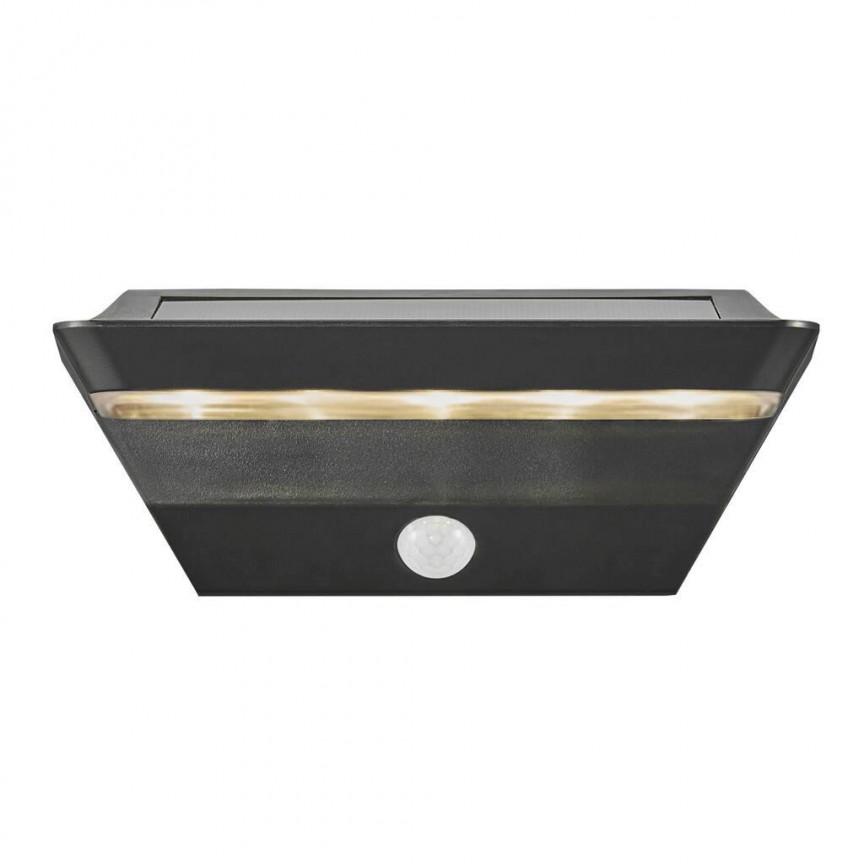 Lampa LED de perete solara cu senzor pentru iluminat exterior, stil modern IP44 Agena 2118221003 NL, Iluminat cu senzor de miscare, LED⭐ modele stil decorativ potrivite pentru iluminat exterior casa, gradina si terasa.✅Design ornamental 2021!❤️Promotii lampi exterior cu senzor de miscare❗ Magazin online➽www.evalight.ro. Alege oferte la corpuri de iluminat exterior cu senzor de miscare, tip aplice exterior de perete sau tavan, plafoniere exterior, proiectoare LED fatade cladiri, stalpi iluminat si felinare cu lumina ambientala, moderne, clasice, rustice si traditionale, cu aspect retro sau vintage, industrial, solare cu panou solar, cu bec LED economic, pt iluminare curte, alei, foisoare, ieftine si de lux, calitate la cel mai bun pret. a
