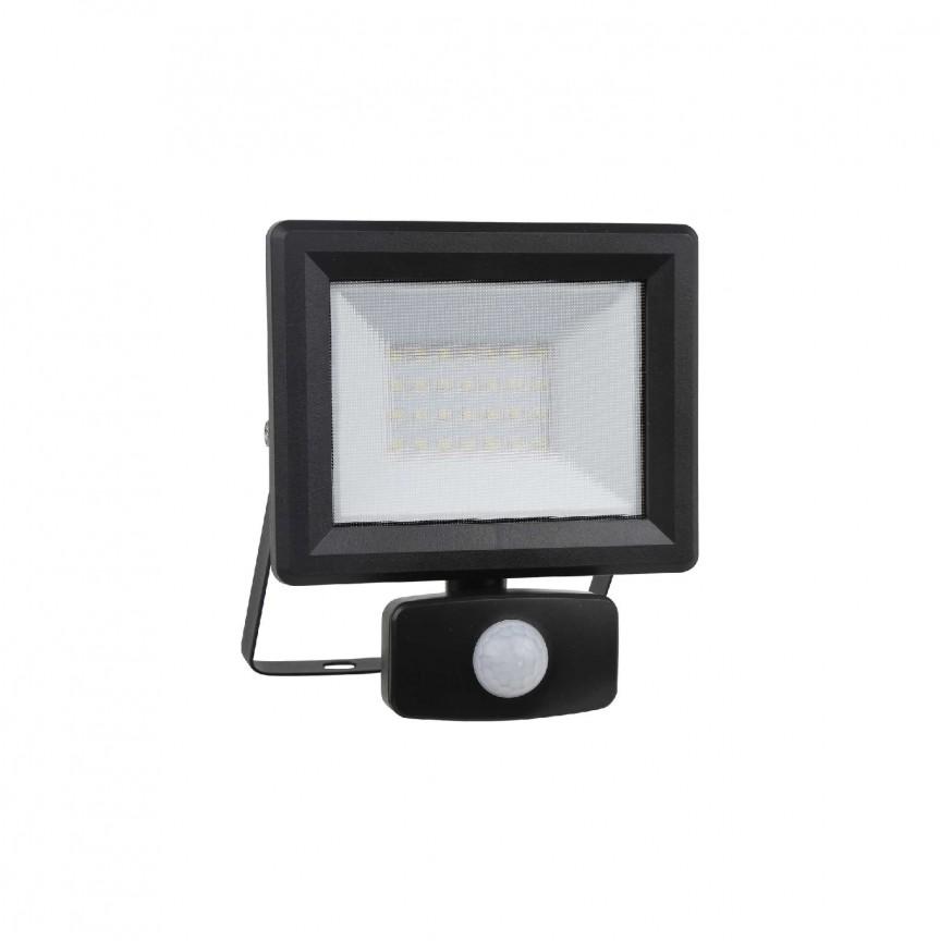 Proiector LED exterior cu senzor de miscare IP65 FLOOD SENSOR 20W BK, Cele mai noi produse 2021 a