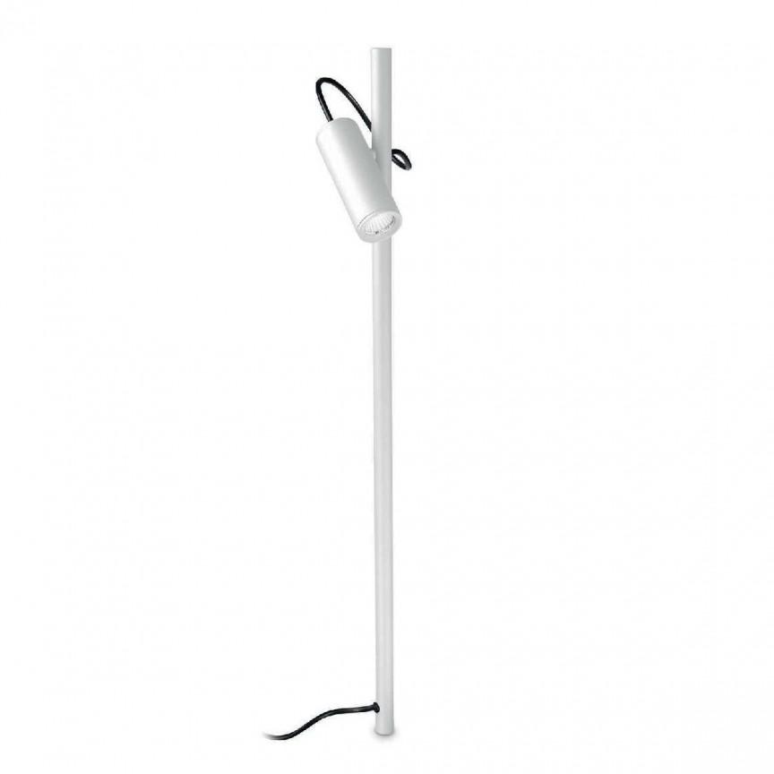 Lampa LED tip stalp iluminat exterior HUB PT BIG BIANCO, H-110cm, 4000k, Proiectoare LED de exterior cu tarus⭐ iluminat ambiental pentru curte gradina, fatada casa.✅Design decorativ ornamental 2021!❤️Promotii lampi❗ Magazin➽www.evalight.ro. Alege oferte la corpuri de iluminat tip stalpi cu tarus proiector, reflector cu senzor de miscare, sisteme de mare putere cu panou solar cu LED-uri, profesionale de calitate la cel mai bun pret. a