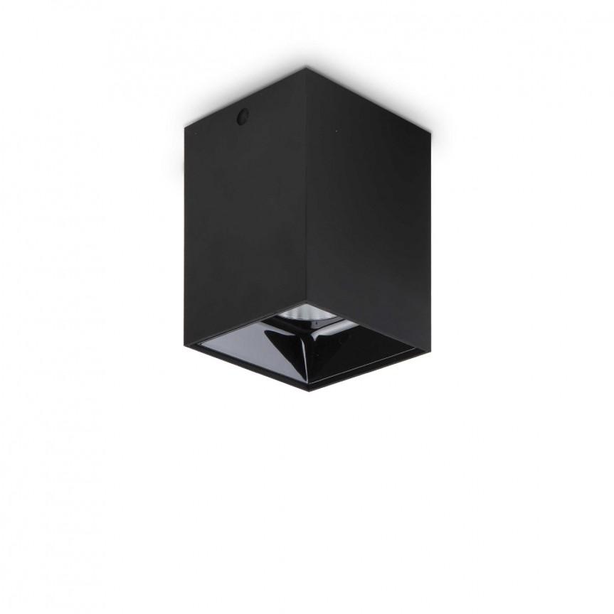 Spot LED aplicat modern NITRO 15W SQUARE NERO, Spoturi aplicate tavan / perete, mobila, LED⭐modele moderne pentru living,dormitor,bucatarie,baie,hol.✅Design decorativ 2021!❤️Promotii lampi❗ ➽ www.evalight.ro. Alege oferte la colectile NOI de corpuri de iluminat interior de tip spot-uri aparente cu LED, (rotunde si patrate), ieftine de calitate la cel mai bun pret. a