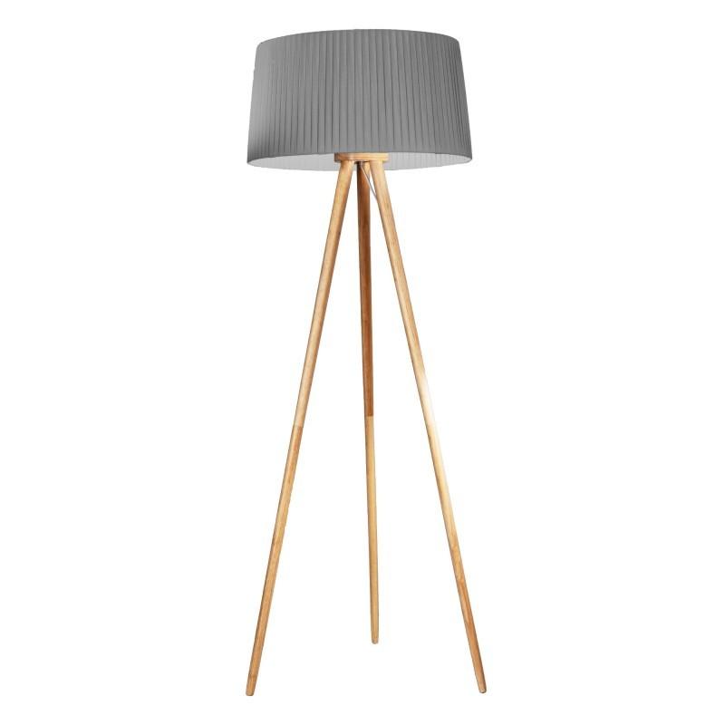 Lampadar cu trepied lemn design modern decorativ ONA gri, Cele mai noi produse 2021 a