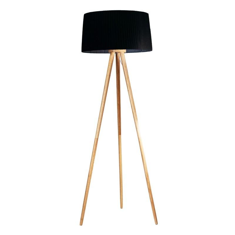 Lampadar cu trepied lemn design modern decorativ ONA negru, Cele mai noi produse 2021 a
