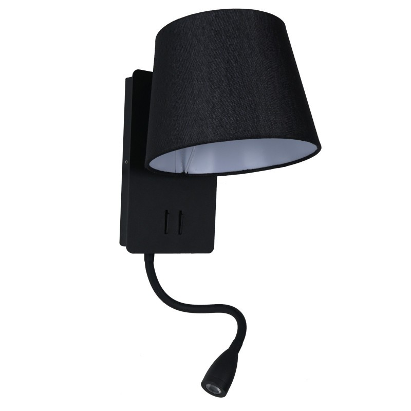 Aplica perete cu reader LED design modern NABIA negru, Cele mai noi produse 2021 a