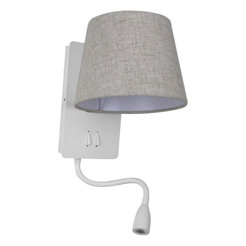 Aplica perete cu reader LED design modern NABIA alb, Cele mai noi produse 2021 a
