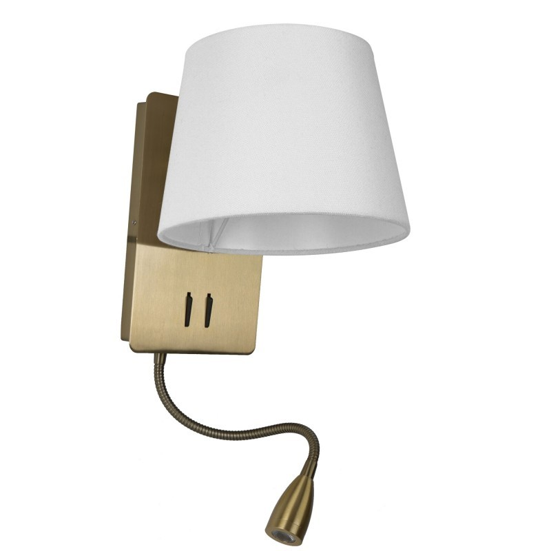 Aplica perete cu reader LED design modern NABIA bronz/alb, Cele mai noi produse 2021 a